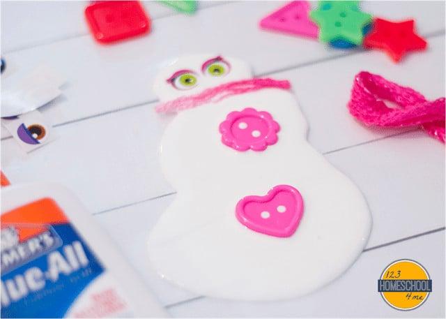 Glue Snowman Craft