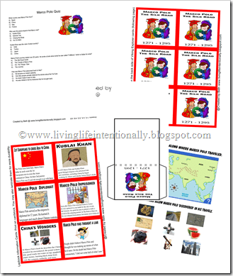 free marco polo lapbook and worksheets for homeschoolers