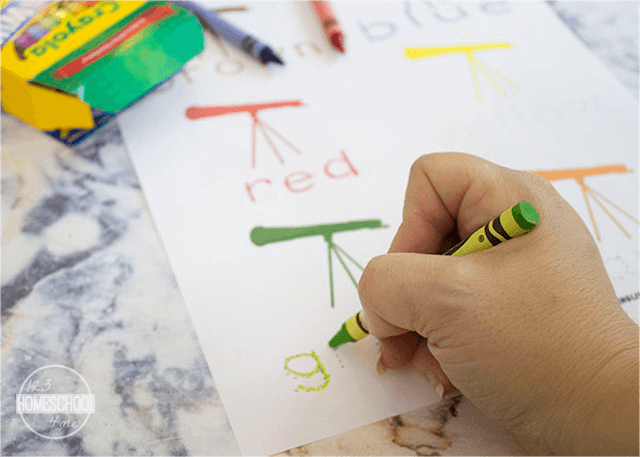 practice colors and color words