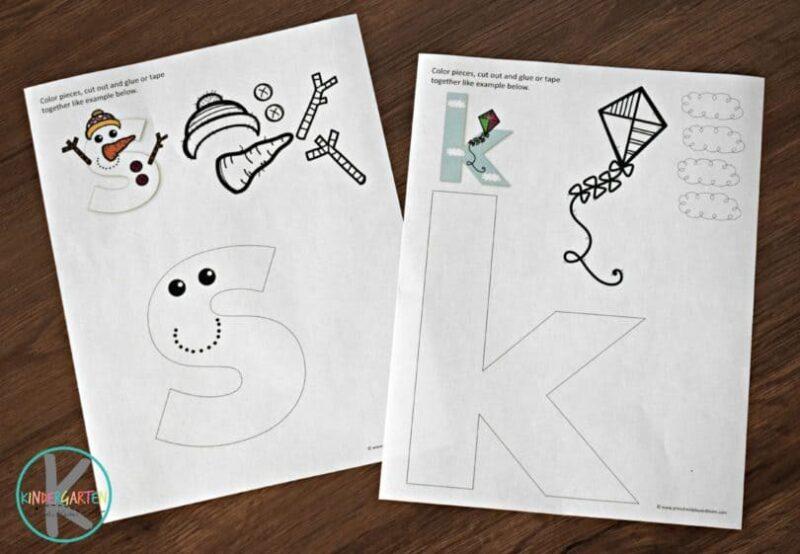 letter s snowman craft