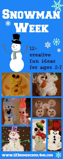 S is for Snowman Preschool Unit with lots of snowman crafts for kids, snowman activities for kids, and fun snowman snacks for families to make together.
