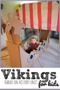 Vikings for Kid s- this is a fun hands on history unit that will help make history come alive including history activities, history crafts, free history printables and more for learning about early explorers #vikings #history #homeschooling