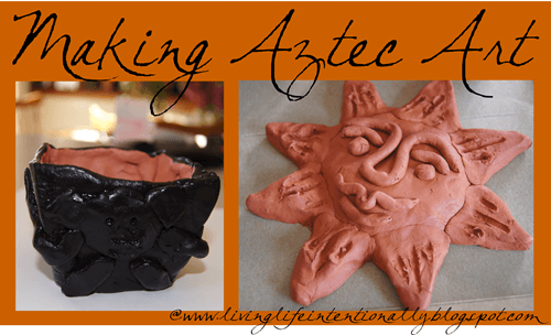 Clay Aztec Art Ideas for Kids - Kids will have learning about the this ancient civilization with this hands- on projects.