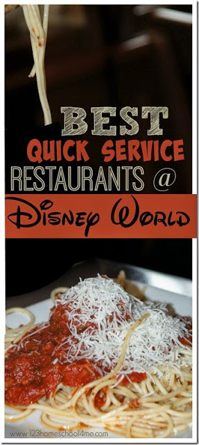 best quick service restaurants at Disney World