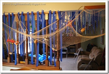 Fish party theme decorations