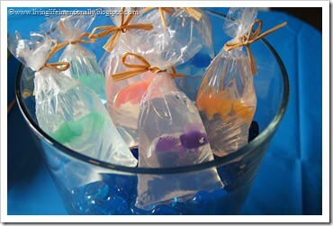Fish in a bag Soup party favor