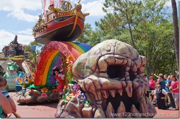 Festival of Fantasy Parade at Disney World Magic Kingdom