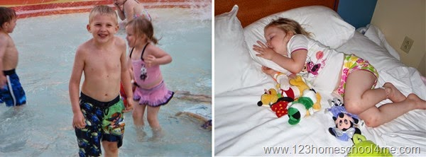In the afternoon go back to your hotel to swim and rest while at Disney World