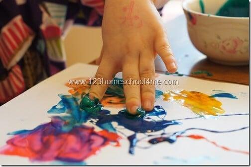 Preschool Finger Painting Activities