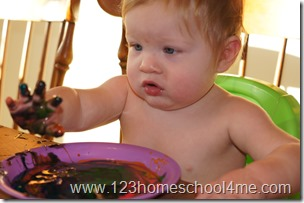 baby safe edible finger paint