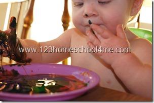baby safe edible finger paint