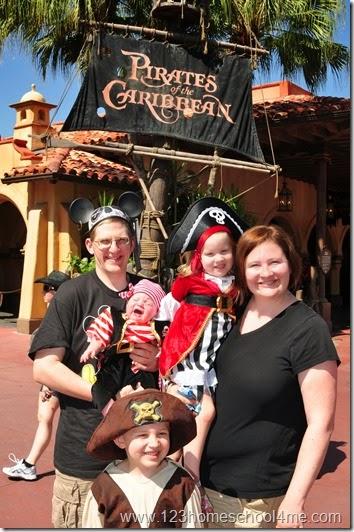 Pirates of the caribbean ride at Disney World Magic Kingdom