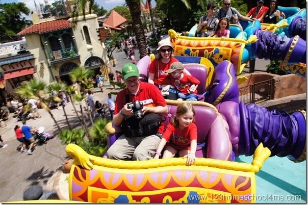 The Magic Carpets of Aladdin ride at Disney World Magic Kingdom