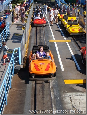 Tomorrowland Speedway ride at Magic Kingdom