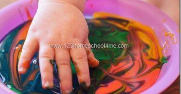 Simple Edible Finger Paint Recipe