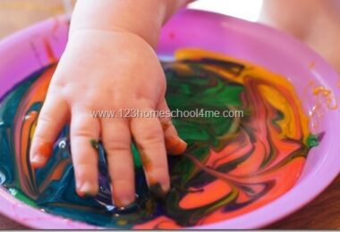 Simple Edible Finger Paint Recipe