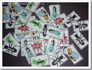 Bug-Sight-Words-Game