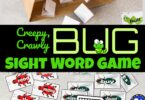 free printable bug sight word game