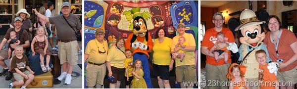 have Families dress in the same color shirt on your next family Disney Vacation