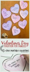 Sweet Valentines Day for Families Tradition w/ Free Printable
