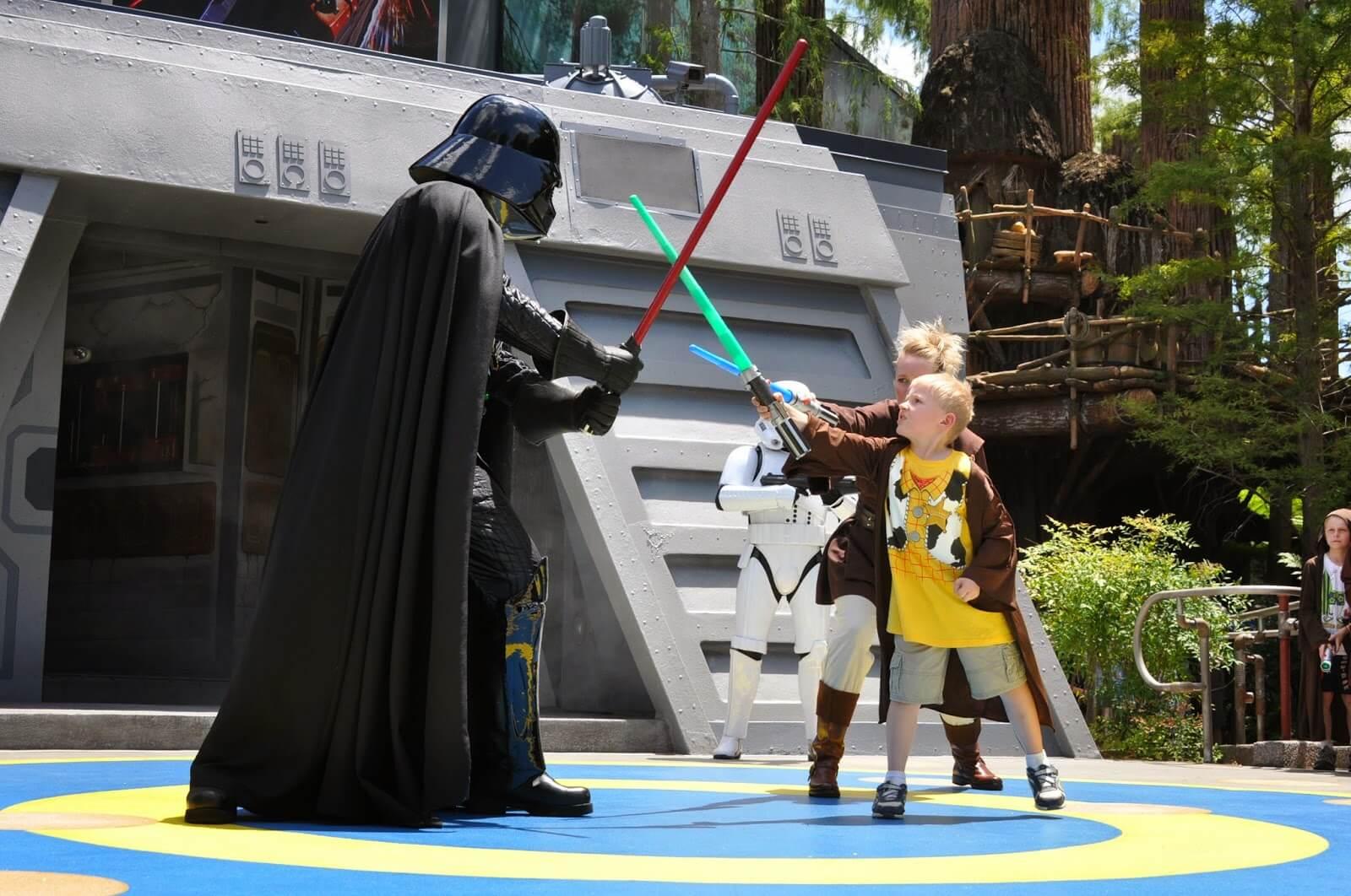 Star Wars Jedi Academy allows kids 4-12 to dual Darth Vadar himself