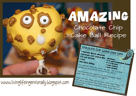 Forget the chocolate chip cookies - these chocolate chip cake bake balls are amazing! #recipes #dessert #snacksforkids