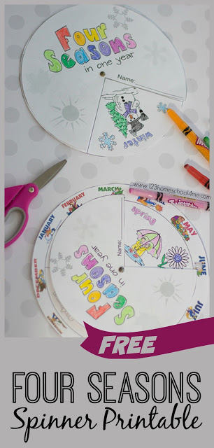 FREE Printable Seasons Activities - this is such a fun, LOW PREP seasons worksheets to help kids in preschool, kindergarten, first grade, and 2nd grade about the four seasons (summer, fall, winter, spring) and how they relate the months with a wonderful visual activity they will LOVE!
