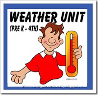 Free Weather Unit for preschool, kindergarten, first grade, 2nd grade, 3rd grade, 4th grade