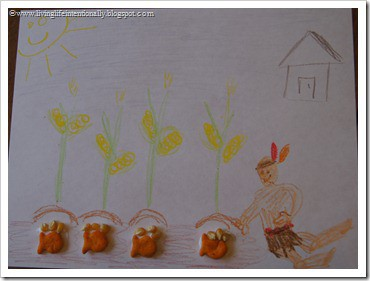 Thanksgiving Activities - Squanto teaches the pilgrims how to plant corn for homeschoolers
