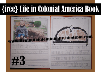 free life in colonial america copywork for homeschoolers