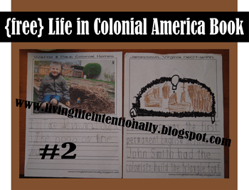 FREE Life in Colonial America Printable Book for Homeschool Social STudies