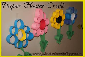 paper flower craft for preschoolers