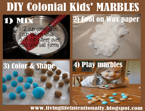 thanksgiving activities for preschoolers - How to Make Marbles for Kids - Hands on Colonial America History Project