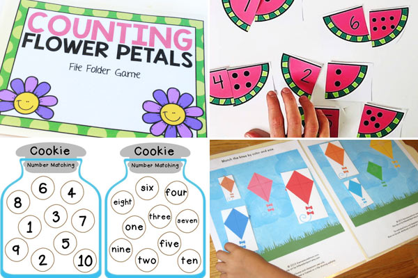 Math File Folder Games for Preschoolers