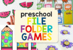 Looking for a fun, reusable way for preschoolers to practice counting, numbers, colors, and alphabet letters? Here are 8 preschool file folder games that will provide lots of learning fun and most of them are FREE!
