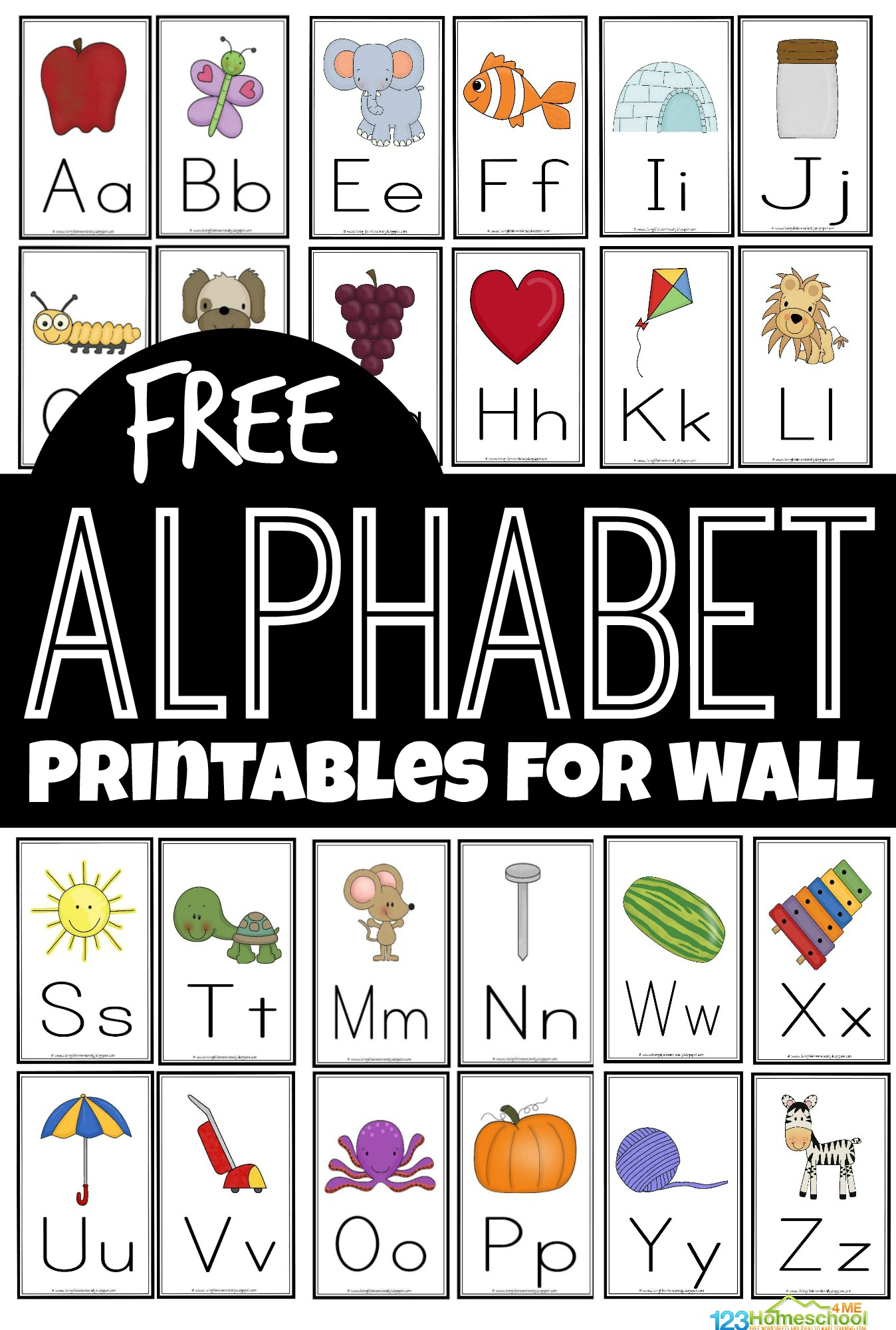 Free Free Alphabet Flashcards And Printables For Wall