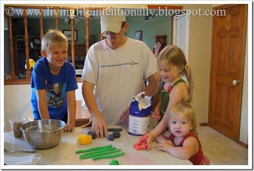 making pretzels as a family
