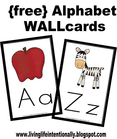 picture regarding Free Printable Abc Flashcards called No cost Alphabet Flashcards Wallcards 123 Homeschool 4 Me