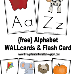 FREE Alphabet Flashcards & Wallcards