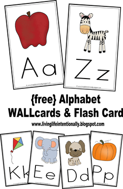 photo relating to Free Printable Abc Flashcards called No cost Alphabet Flashcards Wallcards 123 Homeschool 4 Me