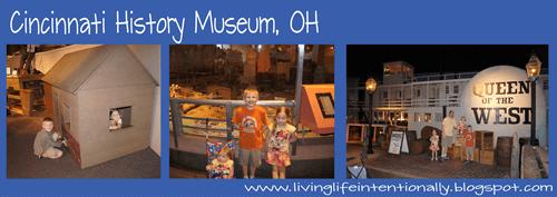 Cincinnati, Ohio history museum for westward expansion