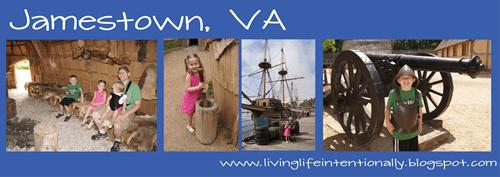 jamestown virginia early settlers field trip