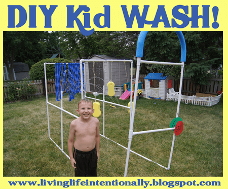 Thiskid car wash is an outrageously fun, zany, and memorable summer activity for kids of all ages. Using pvc pipes your family can make a backyardwater activity for kids that will be the envy of the neighborhood. This EPIC water play for kids took 2 hours and less than $35 in supplies for a reusable, endless summer fun project. This summer stem activity allows you to design and engineer your owndiy kids car wash.