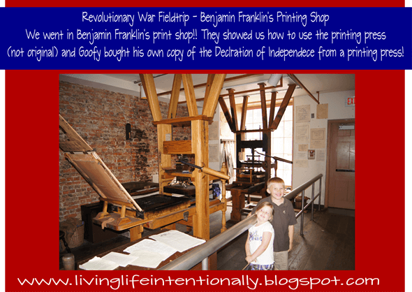Benjamin Franklin's Printing Press