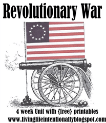 american revolutionary war for kids - 4 week unit with free printables and activities for kids of all ages