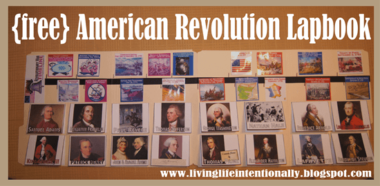Download FREE Revolutionary War Timeline & Lapbook
