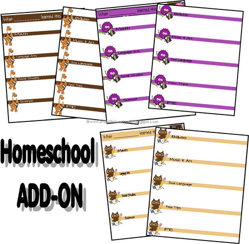 homeschool subject add on