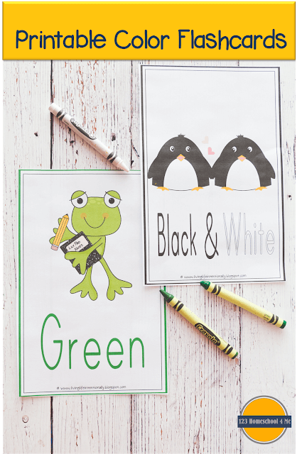 These free Printable Color Flashcards are handy for children learning their colors, but also to be used on color scavenger hunts  and toy sorting among other fun hands on learning activities for toddlers, preschoolers, pre k, and kindergartners.