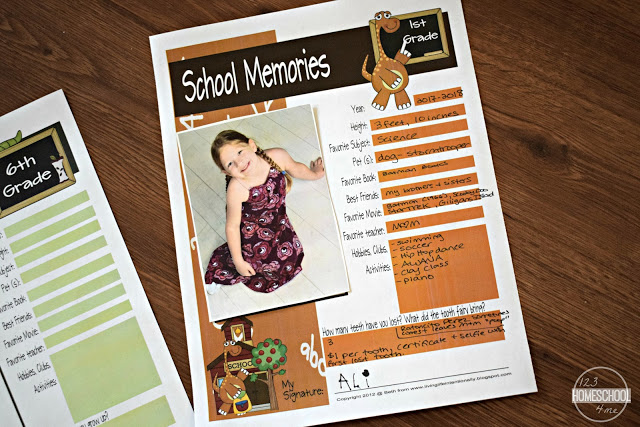 It's just an image of Memory Book Printable with regard to 4th