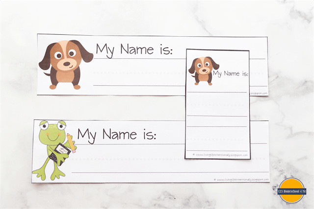 FREE printable Trace my Name Worksheet to help preschool and kindergartners learn their names
